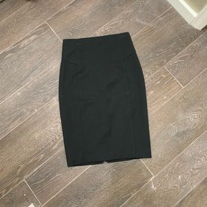 Express black pencil skirt with full back zipper